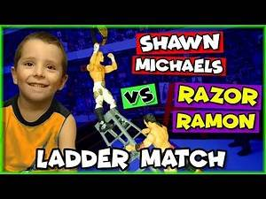 WWE Wrestling Figures Ladder Match - Shawn Michaels vs Razor Ramon