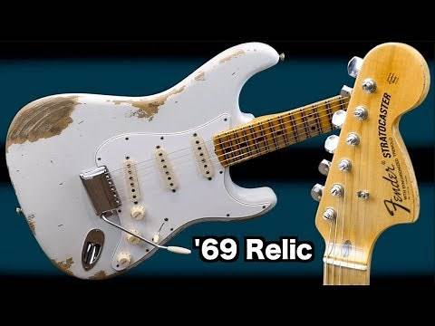 My First Custom Shop Stratocaster | 2018 Fender 1969 Strat Heavy Relic Olympic White | Review Demo