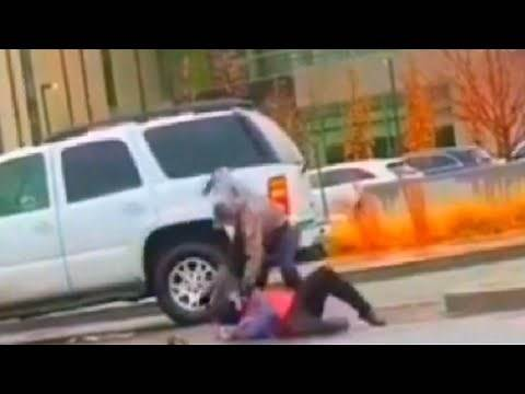 Antifa Thug gets THRASHED by angry motorist! (Best quality)