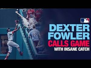 Dexter Fowler's INSANE catch to end game