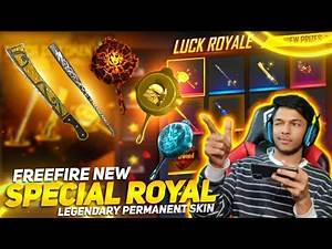 New Special Royale I Got Golden Pan And Volcanic Fury & New Golden Blade Got Magic Cube Free Fire