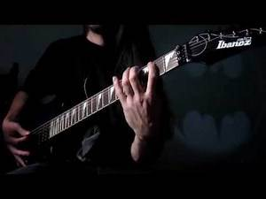 Tim Burton 1989 Batman Theme by Danny Elfman for electric guitar