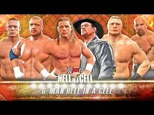 WWE 2K17 Shawn Michaels vs Undertaker vs Triple H vs Brock Lesnar vs John Cena vs Goldberg   HIAC