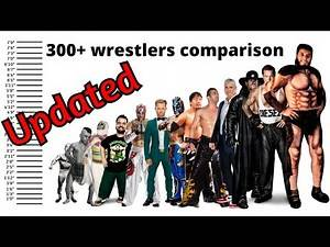 Wrestlers height comparison chart (2020) || 300 wrestlers comparison