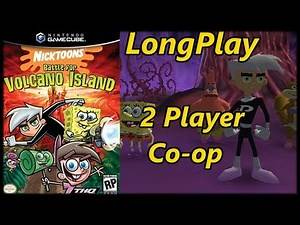 Nicktoons: Battle for Volcano Island - Longplay 2 Player Co-op Full Game Walkthrough (No Commentary)