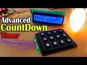 Countdown timer using Arduino, LCD 16x2 i2c & 4x3 Keypad, Arduino countdown Timer Millis
