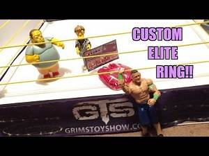 Custom GTS WRESTLING Authentic Scale Ring for WWE MATTEL ELITE FIGURES