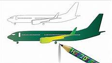 How To Draw Airplane Step By Step Drawing Easy Draw Method