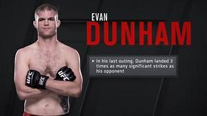 UFC - Evan Dunham has the second most significant strikes...