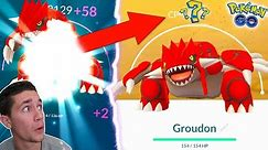 FIRST EVER LEGENDARY OVER 4,000 CP! MAXING OUT GROUDON IN POKÉMON GO!