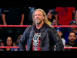 Edge RETURNS! Edge entrance on WWE Raw January 27, 2020 HD