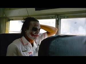 Joker in the Bus 'The Dark Knight' Deleted Scene