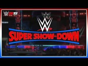WWE 2K19 - How To Make The WWE Super-Showdown Arena [PS4/XBOX ONE]