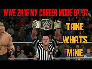 BROCK LESNAR EXTREME RULES | WWE 2K16 My Career Mode (WWE MyCareer Gameplay XBOX ONE / PS4 Part 97)