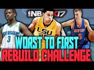 NBA 2K17 MY LEAGUE: WORST TO FIRST REBUILD CHALLENGE!!! TRADING FOR BEN SIMMONS!!!