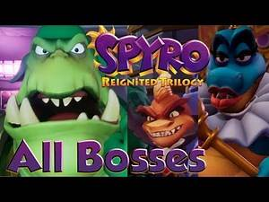 Spyro Reignited Trilogy - All Bosses NO DAMAGE (FULL REIGNITED TRILOGY!)