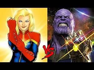 Thanos vs. Captain Marvel : Comics vs. Marvel Cinematic Universe