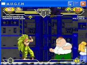 KX's MUGEN #1: Peter Griffin/Homer vs. Goku/Piccolo