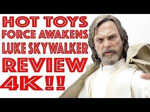HOT TOYS STAR WARS FORCE AWAKENS LUKE SKYWALKER 1/6 SCALE FIGURE REVIEW 4K