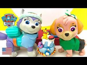 Paw Patrol Birthday Party Preparartion Chase and Skye Baby Pokemon Movie full episode in English