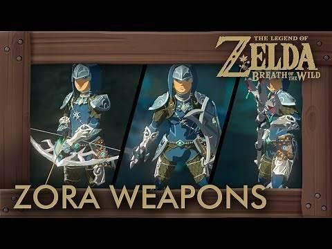 Zelda Breath of the Wild - All Zora Weapons (Complete Set Location)