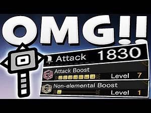Monster Hunter World -1830 HAMMER DAMAGE BUILD OMG WHAT IS THIS DAMAGE !!!