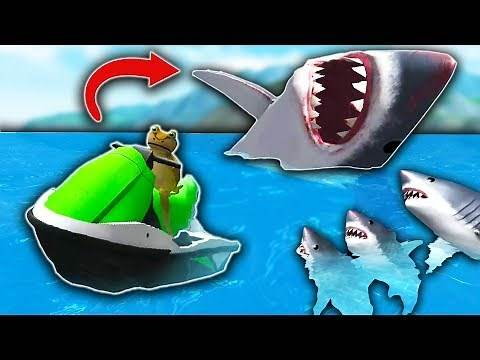 I FOUND A SECRET MEGALODON?! (Amazing Frog)