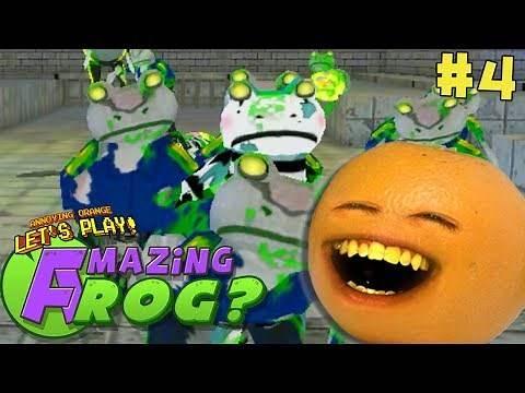 Annoying Orange Plays - Amazing Frog #4: ZOMBIE SEWERS!