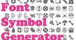 Font symbol generator walk-through