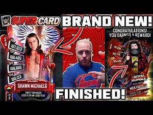 NEW VALENTINES SHAWN MICHAELS CARD! ROYAL RUMBLE MICK FOLEY COMPLETED FROM RING DOM! WWE SuperCard!!