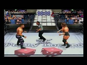 Chris Benoit vs Triple H (WWF title) - WWF Smackdown JBI (PS2)