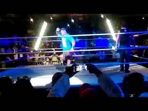 John Cena Entrance, my wife catches his cap - WWE Abu Dhabi 2015