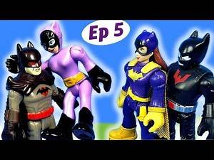 Imaginext Batgirl and Batman Drama with His Dad and Catwoman Toy Video - Batgirl's World Ep 5