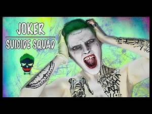 Joker from Suicide Squad (in 4 min) ► Makeup Tutorial