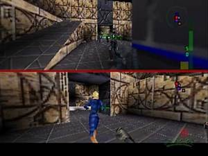 Perfect Dark N64; Skedar Split Screen Team Combat