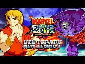 THIS GAME IS CRAZY: Ken Legacy - Marvel Vs. Capcom (PSOne) 98'