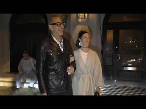 Jeff Goldblum and wife Emilie Livingston leave a dinner date at Craigs restaurant in West Hollywood