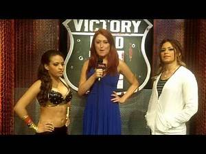 Val with Sarita and Rosita Before Tonight's Victory Road