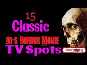 15 Classic 80's Horror Movie TV Spots (Nostalgia Overload)