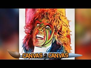 The Ultimate Warrior splashes onto the canvas! — WWE Canvas 2 Canvas