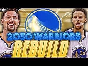 KYRIE IRVING JR.!!! NEW STEPH CURRY!?! REBUILDING 2030 WARRIORS!! NBA 2K17 MY LEAGUE!!!