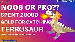 Prodigy Math Game 2020: TERROSAUR - RARE PET For 20000 GOLD! New Pet 2020 : How to get it?