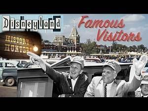 Looking Back at Disneyland's Famous Visitors