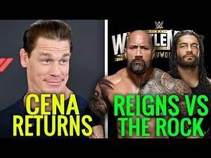John Cena RETURNS To WWE! Roman Reigns vs The Rock Wrestlemania 37? Wrestling News