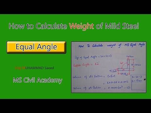 How To Calculate Weight Of M.S Equal Angle