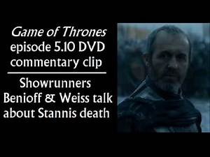 510 DVD commentary clip on Stannis death (Benioff, Weiss) in Game of Thrones