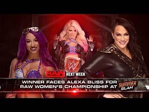 WWE 2K17 Raw Sasha Banks vs Nia Jax #1 Contendership