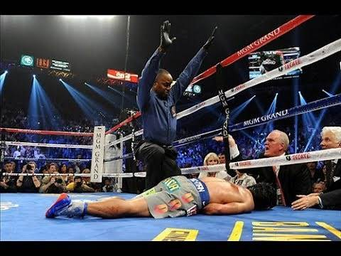 Manny Pacquiao Knocked Out Cold!