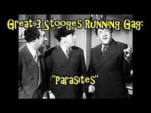 "Great 3 Stooges Running Gag: ""Parasites"""