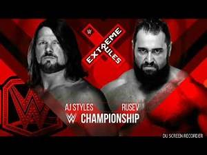 WWE extreme rules 2018 full match card